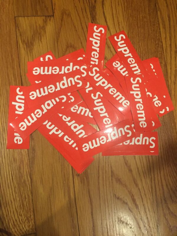 Red Supreme Stickers Lot Of 10 FAST SHIPPING US Seller