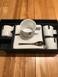 Cappuccino tasse café coffee cup set - NEW NEUF in box