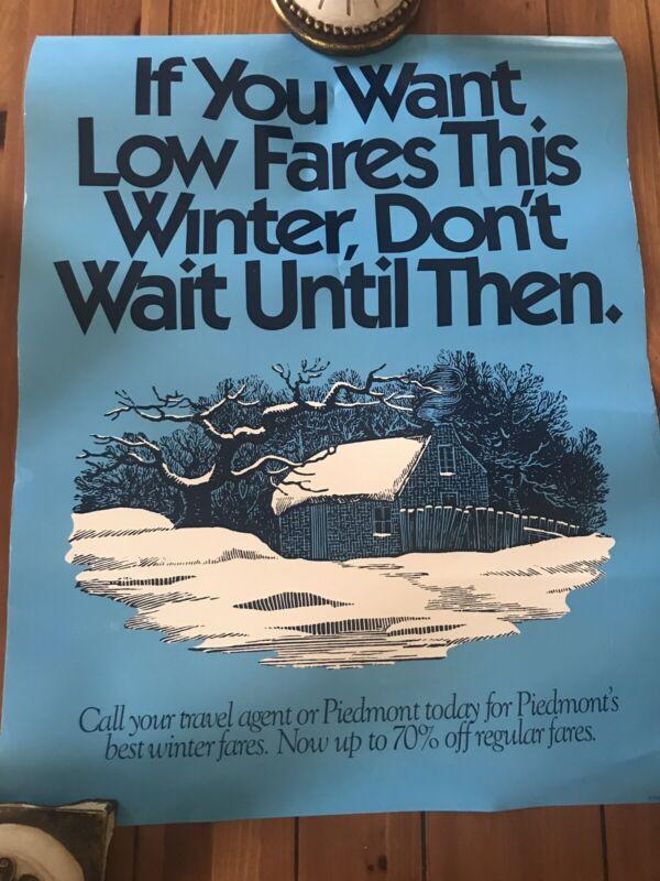 Vintage Piedmont Airlines Poster