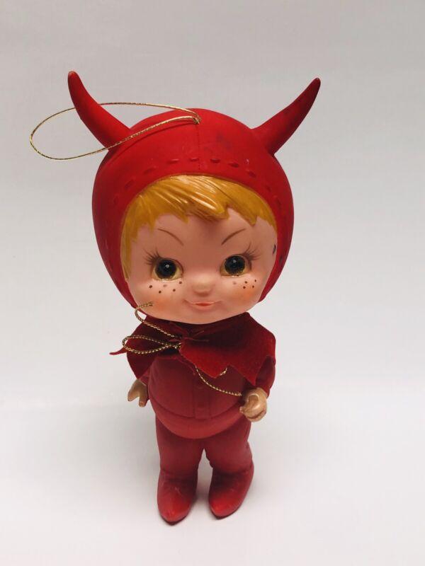 Vintage 1970 Kamar Japan Little Devil Boy Ornament