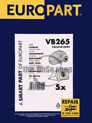 5x GOBLIN IOTA 731 Series Vacuum Cleaner Dust Bags, Type72 - 73145, 73181, 73182