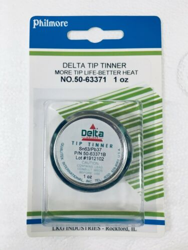 NEW Qualitek Delta Soldering Iron Tip Tinner Cleaner Contains Tin Lead 63/37 1oz