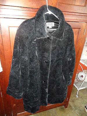 Very Warm Size XL Coat ARCTIC RIVER Bernardo Fashions Faux Fur Black Hardly Worn