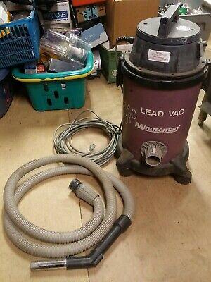 Minuteman 829117 Dry Hazardous Material Lead Vacuum With Hose 6 Gallon Working