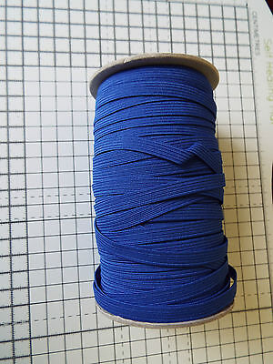 1m -Royal Blue, Flat, Elastic ,  Width - 7mm for sale  Shipping to Ireland