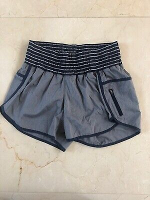 "Lululemon Tracker Shorts Gray And Navy Size 8 4"" Inseam"