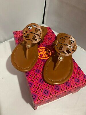 New in box! Tory Burch Leather Miller Sandals - Vintage Vachetta - Sale!