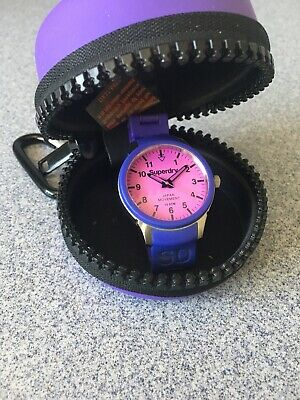Purple Superdry Scuba Unisex Watch.