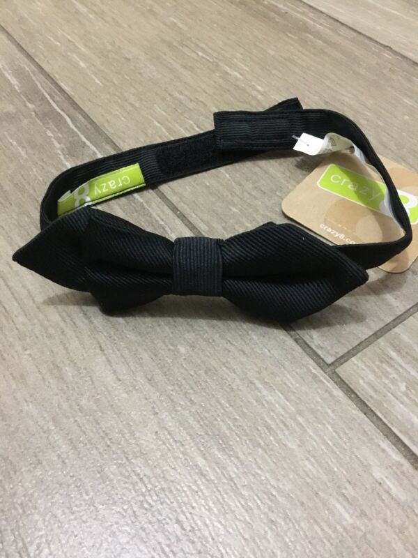 New Crazy8 Baby Toddler Boys Black Bow Tie 2T-5T