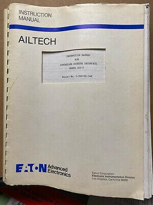 Instruction Manual For Eaton Ailtech Cci-7 Controller Counter Interface