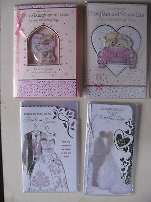 Wedding Day Cards Congratulations Marriage Husband & Wife Best Man Wishes