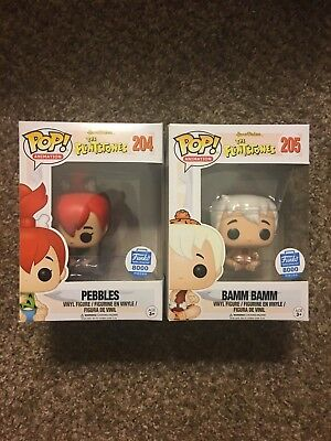 Bamm Bamm And Pebbles Funko Pop 8000 Pcs W  Soft Protectors Good Condition
