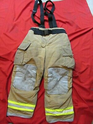 Mfg. 2012 Globe Gxtreme 40 X 30 Firefighter Turnout Bunker Pants Suspenders