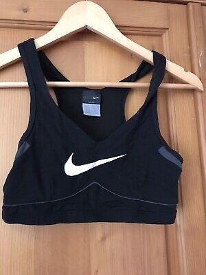 Womens Genuine Nike Crop Top Bra Size  Xs 6-8 Uk Black