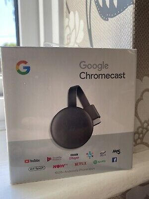 Google Chromecast 3rd Generation - Brand New, Black