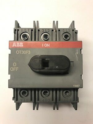 ABB OT30F3 30 amp 600 volt general purpose switch for sale  Linden