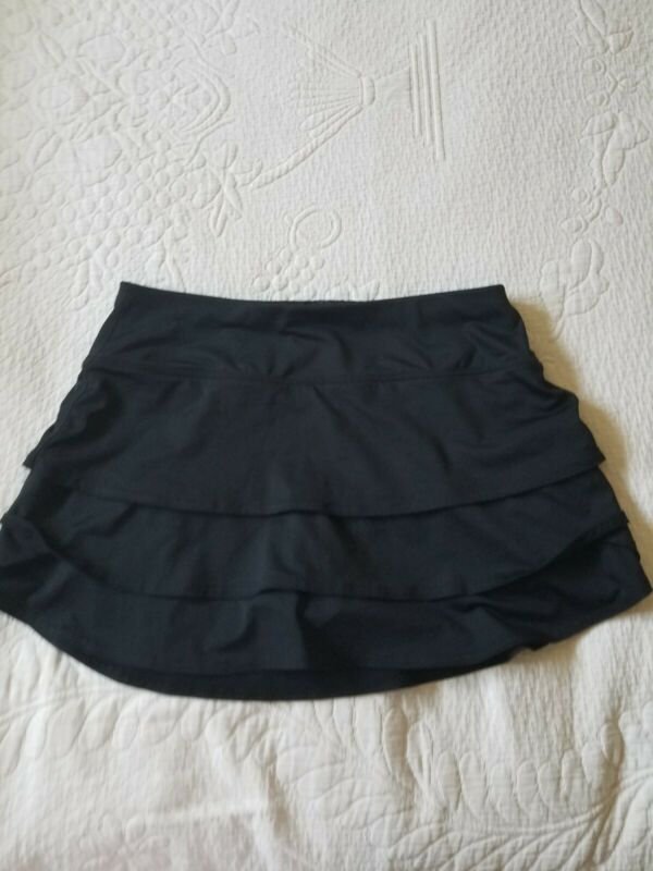 Athleta Layered/Athletic Skort/Black/Womens Size Small/Built In Shorts/EUC