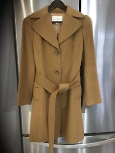 Banana republic wool blend extra small camel coloured trenchcoat