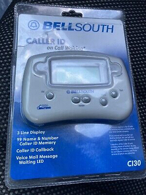 BellSouth Caller ID On Call Waiting Cl30 3 Line Display, See Pics New/Sealed!