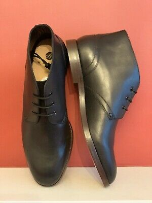 🆕H by Hudson Houghton 2 Mens Black Chukka Ankle Boots NEW WITH BOX UK size 11