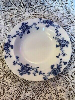 ANTIQUE BLUE FLOWERED PLATE CARNATION FURNIVA-MARKINGS 26.5cm Markings