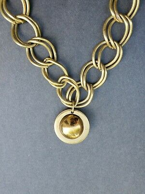 60s -70s Jewelry – Necklaces, Earrings, Rings, Bracelets Vintage Gold Tone Double Curb Chain Necklace Deco Circa 1960'S TO 1970'S $9.99 AT vintagedancer.com