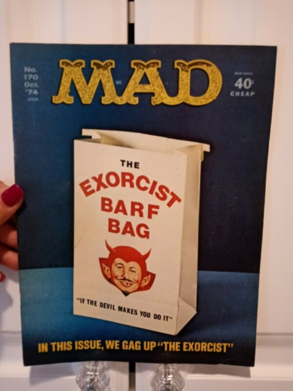 Mad Magazine The Exorcist Barf Bag No. 170 Oct.