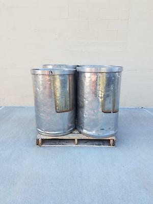 Used Open Top Stainless Steel Drums 4 Pack Lot Number 13