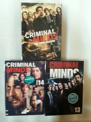 . Criminal Minds three Seasons 13, 14, 15, 13-15 DVD 13 discs