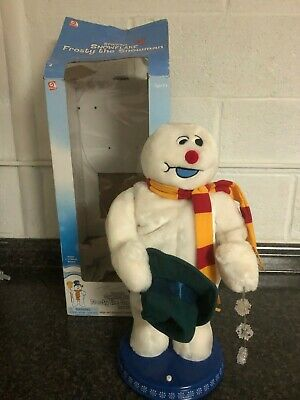 GEMMY SWINGING SNOWFLAKE SNOWMAN FROSTY THE SNOWMAN WORKS ANIMATED SINGING