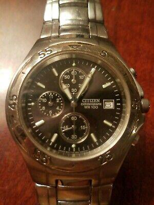 Vintage citizen chronograph mens watch