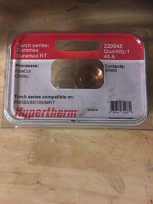 Genuine Hypertherm Powermax 45 Xp Fine Cut Ohmic Shield 220948 45a 6585105mrt