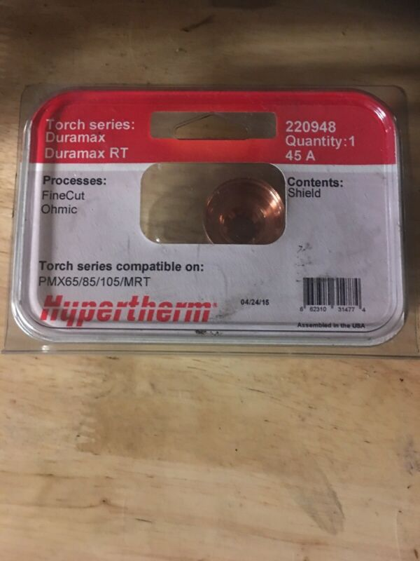 Genuine Hypertherm Powermax 45 XP Fine Cut Ohmic Shield 220948 45A 65/85/105/MRT