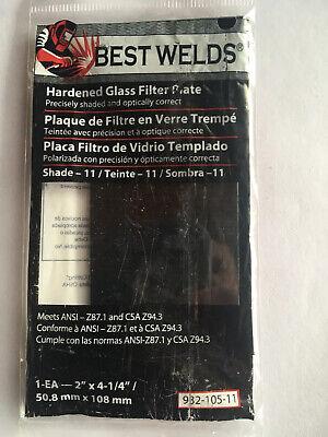 Best Welds Hardened Glass Filter Plate Shade 11 982-105-11