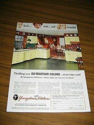 1955 Print Ad Youngstown Steel Kitchens Happy Couple in 50's Home