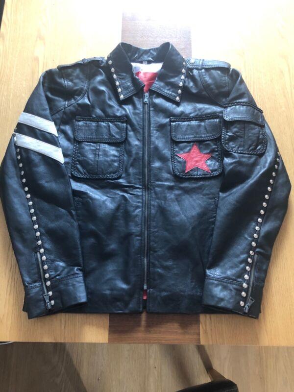 U2 Elevation Tour style leather jacket
