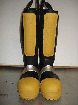 Thorogood Hellfire 807-6004 Rubber Boot Size 8.5m Firefighter Haz Mat Boot Euc