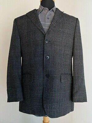 Chaps Ralph Lauren Sports Jacket Men's 40R Black Gray Plaid Suit Coat Pre-Owned