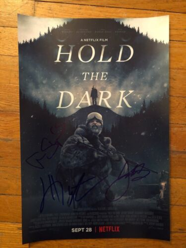 ALEXANDER SKARSGARD JEFFREY WRIGHT SIGNED HOLD THE DARK PHOTO 12X18 AUTOGRAPH