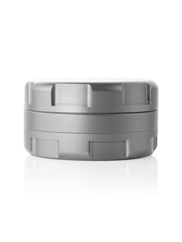 "Grav Labs 2.25""/57mm Anodized Aluminum Aerospace CNC 3 pc Grinder - SILVER"