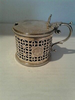 Antique Victorian Silver Plated Mustard Pot c1870
