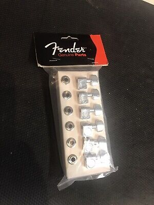 Genuine Fender American Standard Chrome Peg Keys Tuners / Tuning Machines