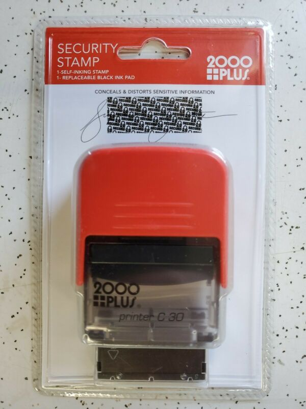 2000 PLUS Self-Inking SECURITY Stamp,  BLACK OUT