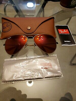 Ray ban Aviators Rb3025 Size 58 Made In Italy Rose Lenses Wow!!!! (Rose Ray Ban Aviators)
