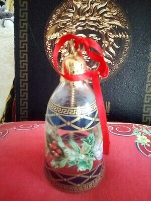 VERSACE ROSENTHAL BELL CHRISTMAS ORNAMENT  LET THERE BE LOVE  SALE RARE