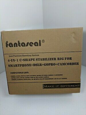 Fantaseal 4 in 1 C Shaped DSLR Action Camera Smartphone Stabilizer Holder