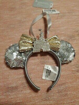 Disney Parks Diamond Castle Minnie Mouse Ears Ornament