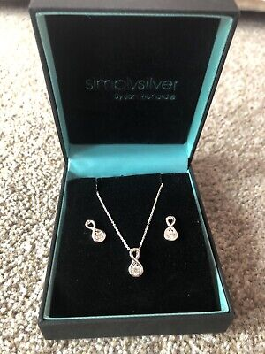 Simply Silver Jon Richard Necklace And Earring Set