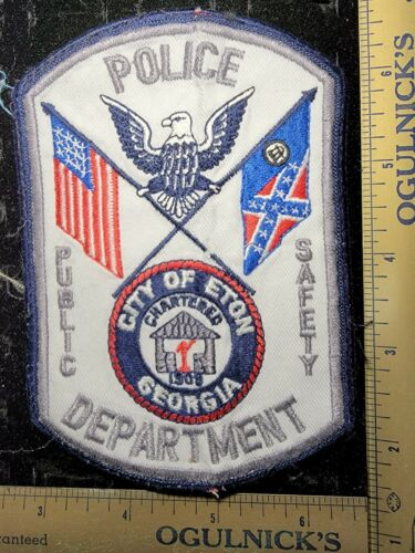 City of Eton Georgia Public Safety Ga Police Department Officer Patch