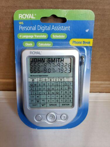 Royal W6 Personal Digital Assistant PDA Language Translator Phone Book Schedule